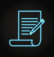 shining copywriting icon in neon line style vector image