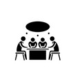 small business meeting black icon sign on vector image