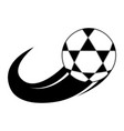 soccer ball with effect icon vector image