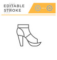 t-strap shoe editable stroke line outline icon vector image vector image