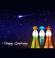 three wise men christmas happy epiphany vector image