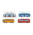trolley bus tram bus public city transportation vector image vector image