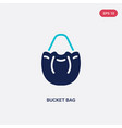 two color bucket bag icon from clothes concept vector image vector image