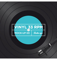 vinyl 33 rpm mockup 03 vector image vector image