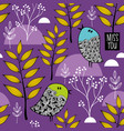 winter in the forest pattern vector image vector image