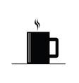 coffee cup hot black vector image
