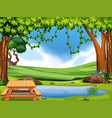 a nature park view vector image vector image