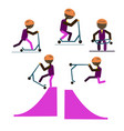 a set of characters engaged in active sport vector image