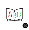 abc book icon dictionary or children educations vector image vector image