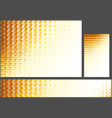 abstract orange polygonal background set vector image
