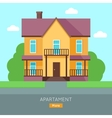 Apartment Web Banner in Flat Design vector image vector image