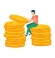 attraction accumulation capital man and gold vector image