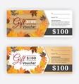 Autumn gift voucher certificate vector image vector image