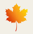 autumn leaf in gradient color vector image
