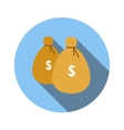 Bags of money flat icon vector image vector image
