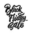black friday sale lettering phrase design element vector image vector image