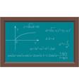 blackboard with math algebra chalk formula vector image