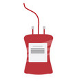 blood bag on white background vector image vector image