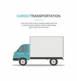 blue cargo delivery van isolated vector image vector image