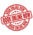 book online now red grunge round vintage rubber vector image vector image
