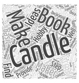 Books on Candle Making Word Cloud Concept vector image vector image