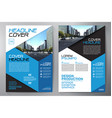 business brochure flyer design a4 template vector image vector image