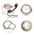 business website icon set vector image vector image