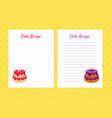 cake recipe cookbook design templates card vector image