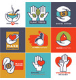 charity blood or donation or medical vector image