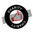 Charity rubber stamp vector image vector image