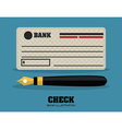 check bank design vector image vector image