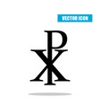 chi rho symbol with drop shadow christogram vector image vector image