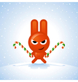 Christmas Rabbit vector image