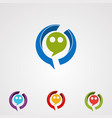 circle chat logo icon element and template for vector image