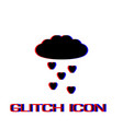 cloud and heart rain icon flat vector image vector image