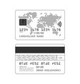 credit card silhouette vector image vector image