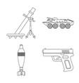 design of weapon and gun logo set of vector image