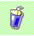 drink fast food fashion patch badge pin sticker vector image vector image
