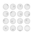 earth grid globe 3d sphere isolated set on white