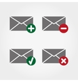 Envelopes web icons vector image