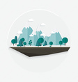Flat design nature landscape mountain vector image