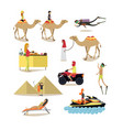flat icons set of people having rest vector image