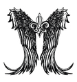 fleur de lis wing emblem vector image vector image