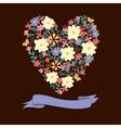 Floral Heart Card Cute retro flowers