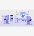 future technologies clinic with robotic medical vector image vector image