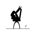 girl on the chair silhouette vector image