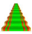 gold ladder vector image vector image