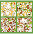 golf seamless pattern golfers sportswear and vector image vector image