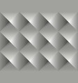 grey geometric 3d pattern vector image