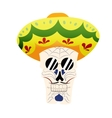 Hand-painted skull hat vector image